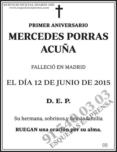 Mercedes Porras Acuña